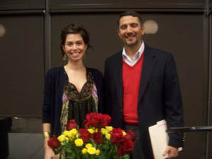 Sara and Dr Hatem Bazian receive distinguished award