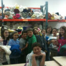 Blake Middle holds Towel Drive
