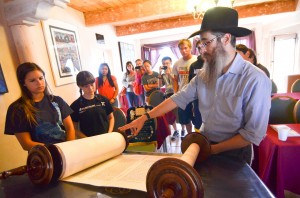 Chabad Jewish Center, Rabbi Levertov show the Torah