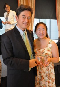 Rev. Yoshida and his daughter, Kazue