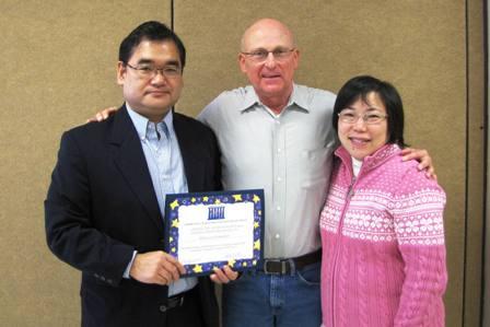 Rev. Ishizaka, CCC President Dave Miller, and Marianne Okubo