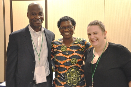 Mainlehwon, Prof. Elavie and Sarah from George Mason University