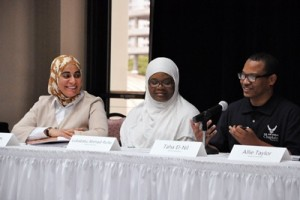 From left: Dr. Feryal Salem, Luba Ahmed-Rufai and Taha El-Nil